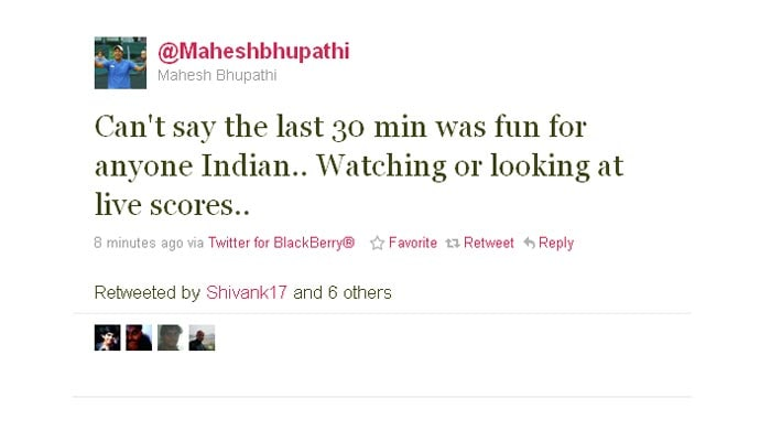 Mahesh Bhupathi's rather dismal review.