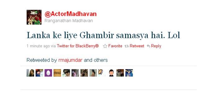 Madhavan's humour is back.