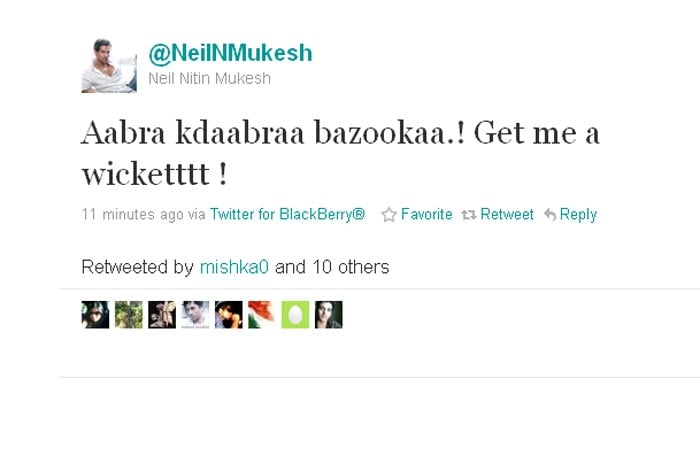 Neil Nitin Mukesh gets creative with his tweets.