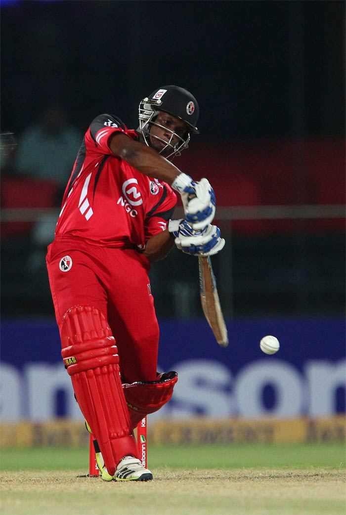 Evin Lewis hit an explosive 38 as he put on 79 runs with Simmons for the first wicket.
