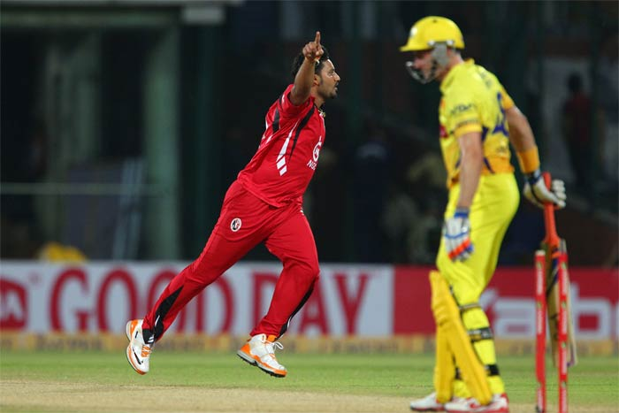 Ravi Rampaul drew first blood for Trinidad removing the dangerous Michael Hussey.