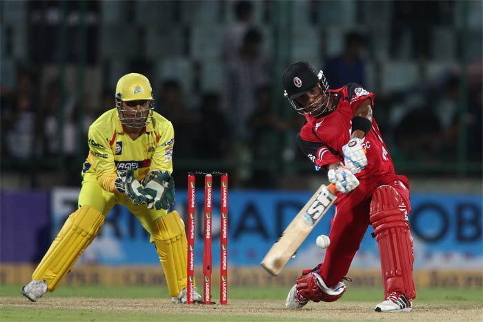 Lendl Simmons' 63 saw Trinidad & Tobago through to an 8-wicket win over Chennai Super Kings which sealed their place in the semis. (BCCI Photos)