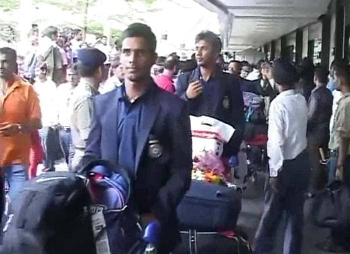 Dhol and Bhangra had been arranged to greet the players at the airport.