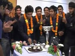 Photo : Rousing reception for India U-19 Champions