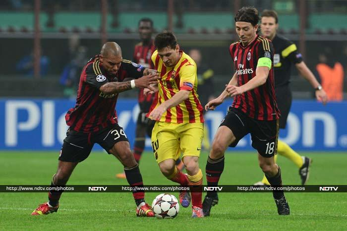 Lionel Messi preserved Barcelona's unbeaten start to the Champions League by equalizing in a 1-1 draw at AC Milan