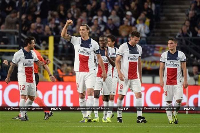Zlatan Ibrahimovic scored four goals, from the simple to the sublime, to lead Paris Saint-Germain to a 5-0 rout of Anderlecht, their third consecutive victory in Group C of the Champions League.
