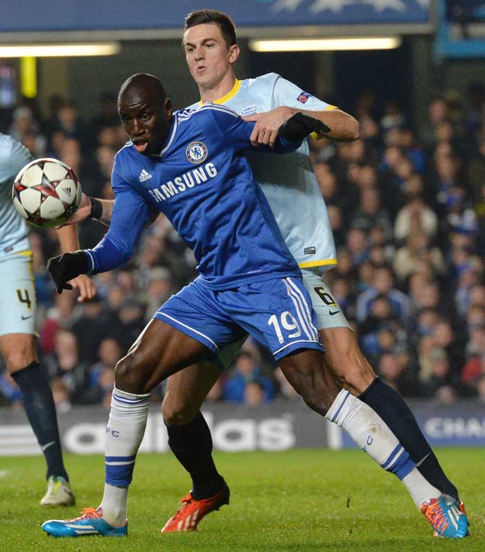Demba Ba ensured Chelsea finished top of Champions League Group E as the Senegal striker clinched a 1-0 win over Steaua Bucharest on Wednesday.