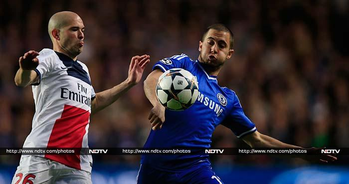 Chelsea's early momentum was interrupted by an injury to Eden Hazard that forced him off in the 18th minute. He could be sidelined for two weeks after injuring his calf during Chelsea's 2-0 Champions League win over Paris Saint-Germain.