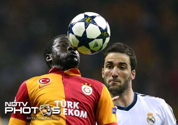 Emmanuel Eboue's 57th-minute leveler brought the home team back into the game as they looked to give Real a run for their money.