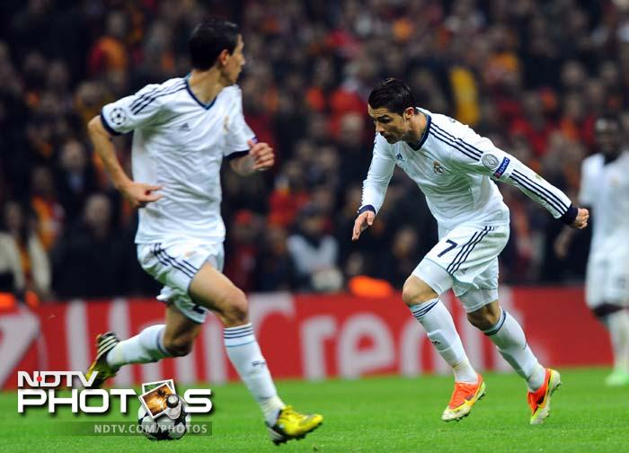 Ronaldo put Madrid ahead and it looked all over for their Turkish hosts.