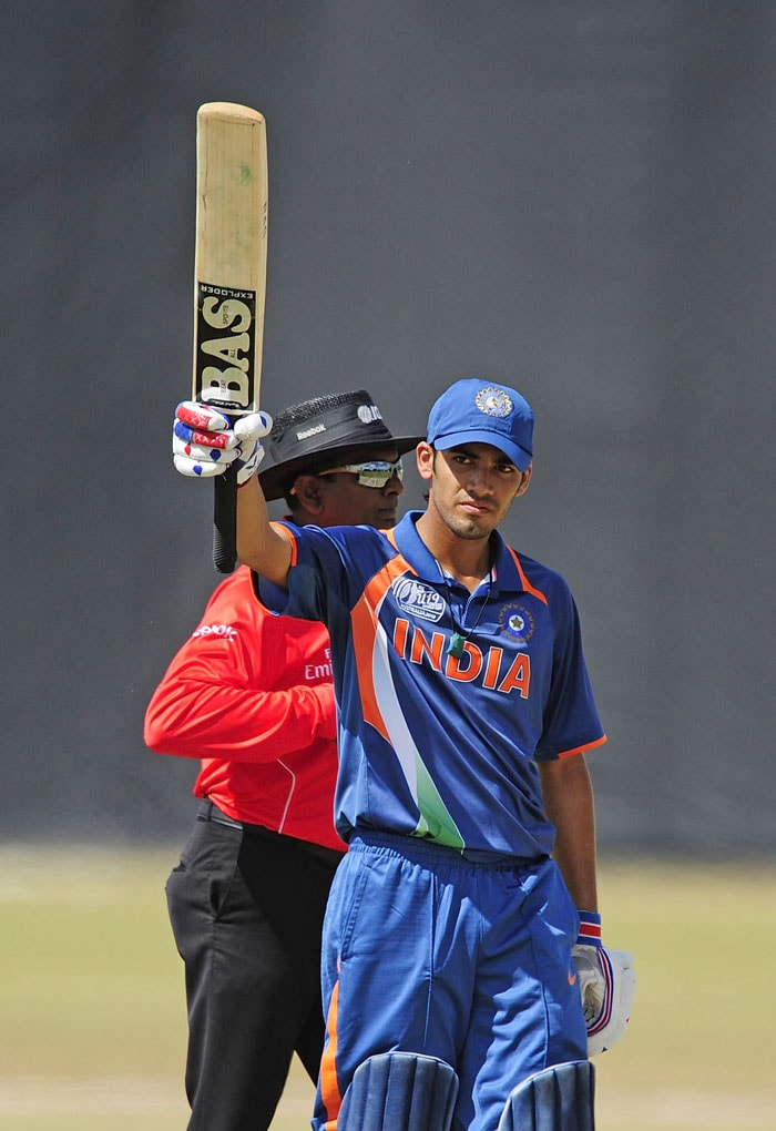 It was the other opener Prashant Chopra who got 58 off 79 to steady the innings even as batsmen failed at the other end. India were three down for 73 when Vijay Zol joined in. (Photo by Ian Hitchcock-ICC/Getty Images)