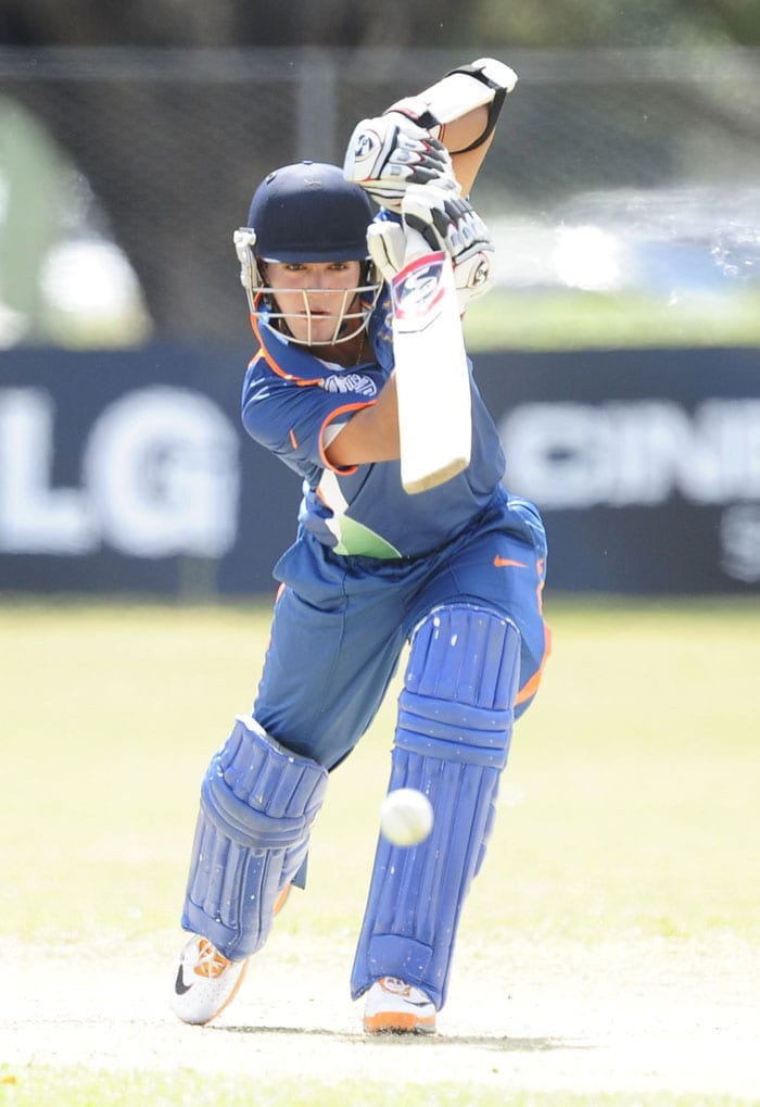 After Smit Patel departed, Vijay Zol was left with the tail-enders. Vikas Mishra and Kamal Passi both got ducks while Ravikant Singh got a mere 3 and Zol was left with no option. India finished with a paltry 204 and did not even bat out their stipulated 50 overs, all out in just 45.1. (Photo by Ian Hitchcock-ICC/Getty Images)