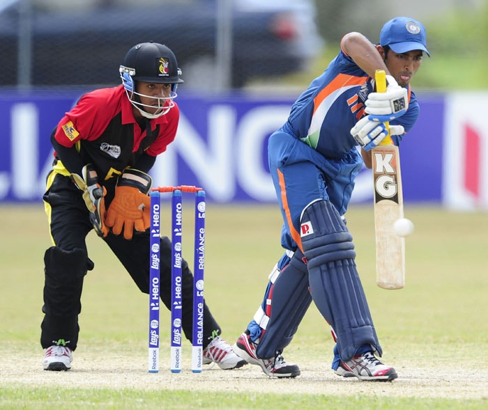 India colts beat Papua New Guinea in a low-scoring affair by 107 runs to win their last Group match and thus book a place in the quarter-final at the under-19 World Cup in Australia. They square up with arch-rivals Pakistan in the quarters. (Photo by Ian Hitchcock-ICC/Getty Images)
