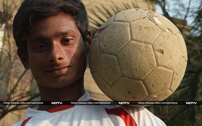 """Cristiano Ronaldo is my idol. I am focusing on scoring goals,"" Rajib said in Sonagachi, the red-light district in India's eastern city of Kolkata, where he lives with his mother in a one-room home in a run-down building."