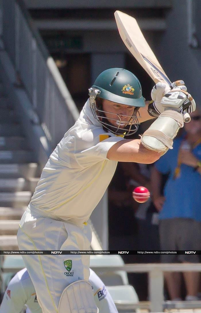 In the second innings Chris Rogers produced yet another steady knock of 54 to give Australia a perfect start.