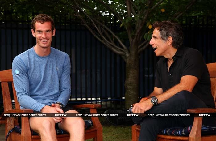 Look who Andy Murray bumped into.<br><br>The Scott seems to have had a rather good time when he met actor Ben Stiller.