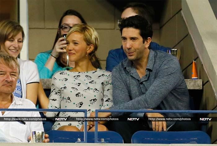 You know him best as Ross Geller from the superhit TV show Friends. <br><br>David Schwimmer, as he would rather be known to the world, was with his wife Zoe Buckman to watch Serena Williams play Spain's Carla Suarez.
