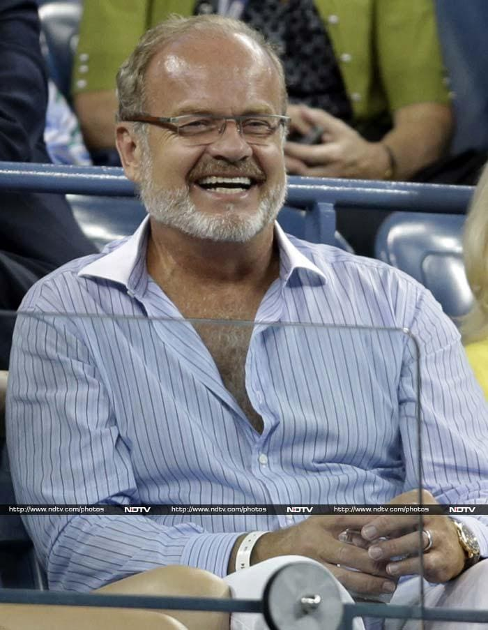 Actor Kelsey Grammer was also present when Djokovic took on Sousa but unlike Spacey, seems to have found his man winning.<br><br>This image is courtesy AP.