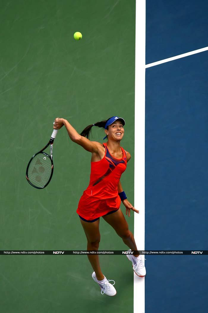 Always one to make a mark more with her style than her on-court tennis performance, Serbia's Ana Ivanovic's blood red dress here has been a deviation from her rather preference for bright and sunny hues in the past.