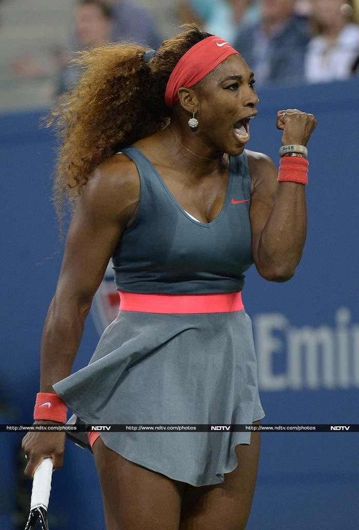 Sister Serena has opted for a more regular outfit this year but the flash of pink in the middle adds just that extra but of flair to her on-court appearance.