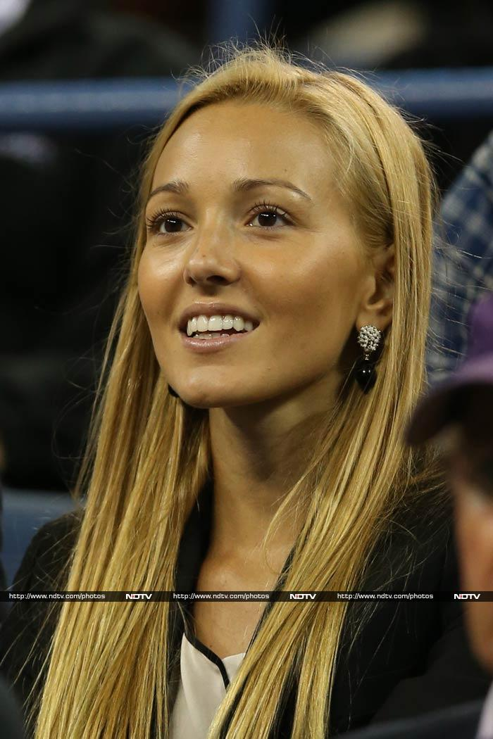 A regular at Grand Slams, Jelana hardly misses watching her boyfriend play live.