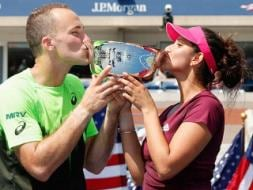Photo : US Open: Sania Wins Mixed Doubles Title, Serena, Wozniacki in Final
