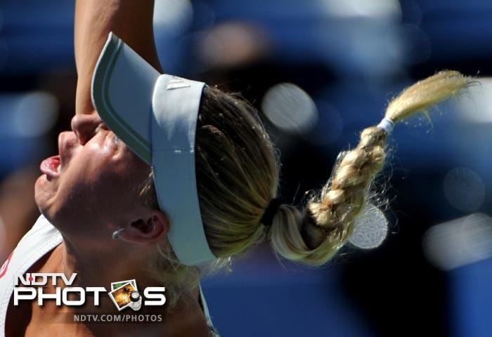 <b>Determined:</b> No such problems for Ms Caroline Wozniacki. Life is good for this Dane damsel, till now at least.