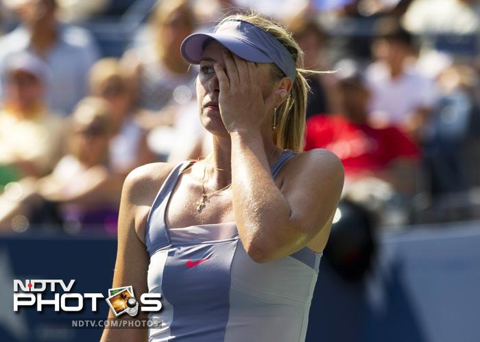 <b>Hurt/Dejected/Demoralised/Distraught:</b> Take a pick but it was just not Ms Sharapova's day on Friday.