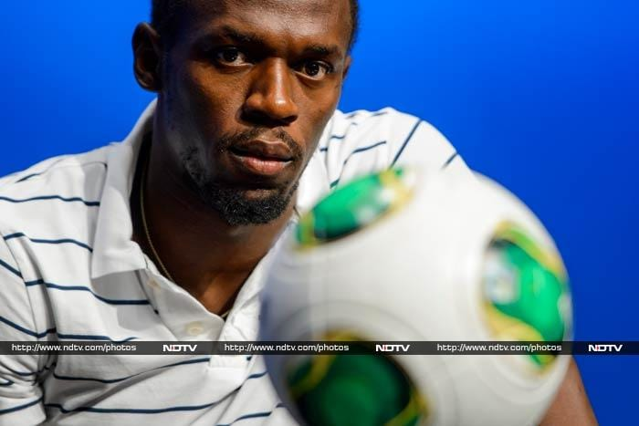The Brazilian football team has the fire-power to win the 2014 FIFA World Cup, according to world's fastest man Usain Bolt. <br><br>Image courtesy: AFP