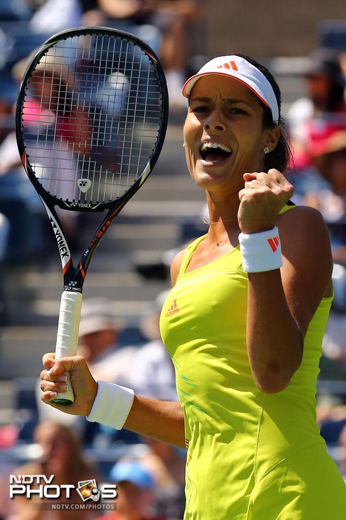 Ana Ivanovic sailed past Swedish player Sofia Arvidsson to book a third round place at the US Open 2012.