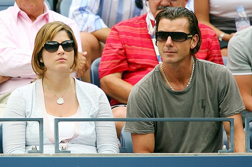 Mirka Federer, wife of Roger Federer of Switzerland and musician Gavin Rossdale attend the Roger Federer vs Tommy Robredo match during day eight of the 2009 U.S. Open at the USTA Billie Jean King National Tennis Center on Monday in the Flushing neighborhood of the Queens borough of New York City. (AFP Photo)