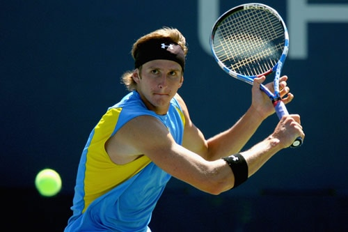 Igor Andreev of Russia returns a shot against Jesse Witten during day two of the 2009 US Open at the USTA Billie Jean King National Tennis Center on September 1, 2009. (AFP Photo)