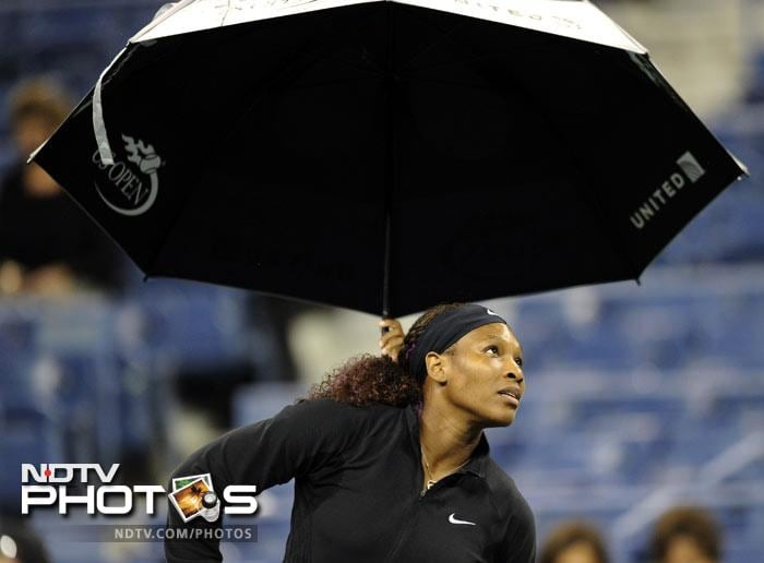 <b>Pack up:</b>Serena Williams' match against Anastasia Pavlyuchenkova was taken off and it brought an end to an eventful day only for those who love the rains. For tennis lovers though, it finished as a damp squib.
