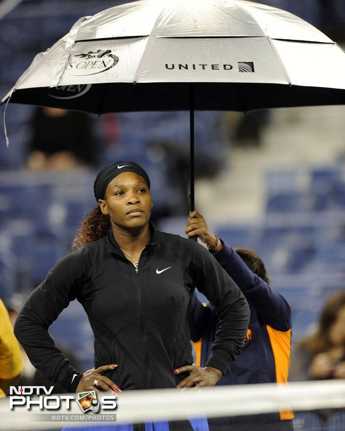 <b>Prolonged showers:</b> The women's quarterfinal matches were affected worse as all the matches scheduled had to be called off.