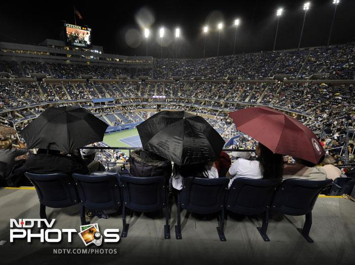 <b>Stat of the day: </b>The USTA rescheduled the men's final for Monday for the fourth consecutive year after rain wiped out play on Tuesday and Wednesday. (AP Photo)