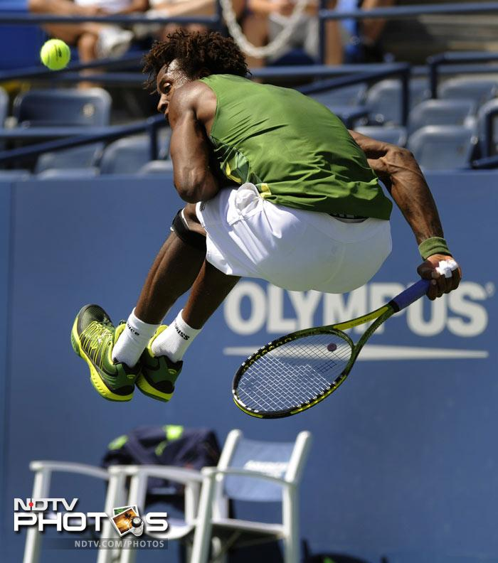 <b>Match of the Day: </b>The Gael Monfils vs Juan Carlos Ferrero five-setter was truly a captivating sight. Ferrero beat the 7th seeded Frenchman 7-6 (5), 5-7, 6-7 (5), 6-4, 6-4. (AFP Photo)