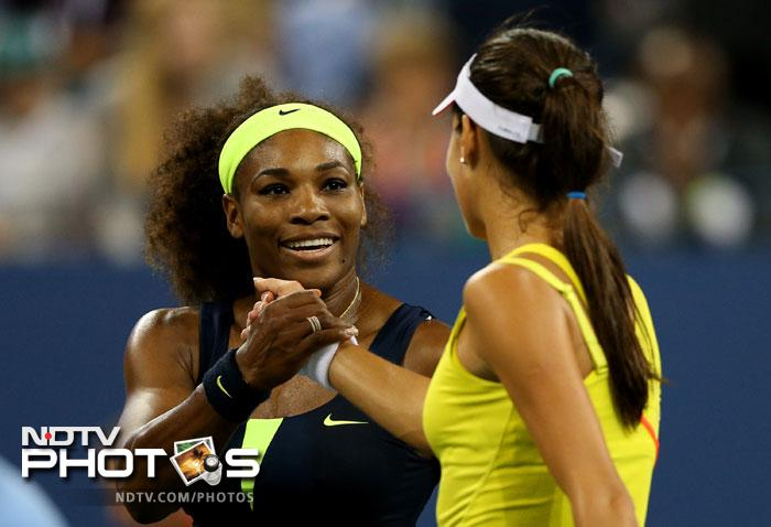 Serena Williams brushed aside Ana Ivanovic 6-1, 6-3 to book her semifinal berth at this year's US Open.