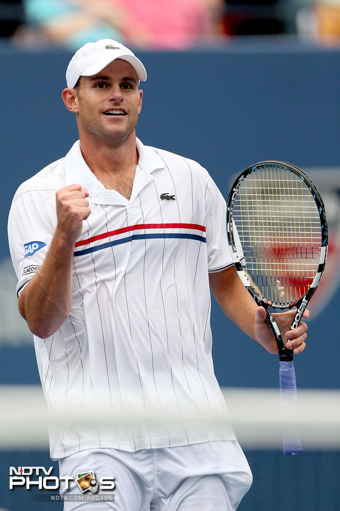 Andy Roddick was given a run for his money by Fabio Fognini before he triumphed to take the match in the fourth set winning 7-5, 7-6, 4-6, 6-4.