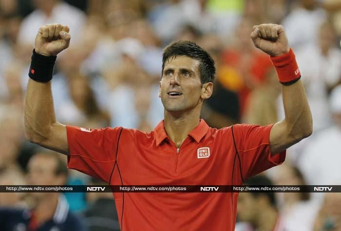 2011 champion and world No.1 Novak Djokovic brushed aside Lithuanian 112th-ranked Ricardas Berankis 6-1, 6-2, 6-2.