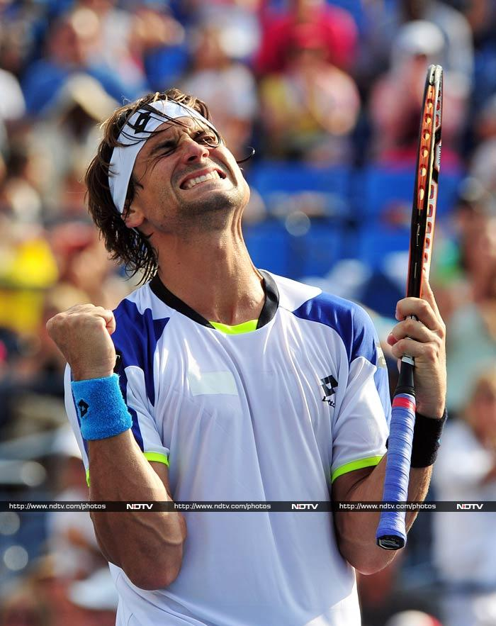 Fourth-seeded David Ferrer needed nearly three hours to down 172nd-ranked qualifier Mikhail Kukushkin 6-4, 6-3, 4-6, 6-4. His next opponent is No. 18-seeded Janko Tipsarevic, who also took four sets to knock off 20-year-old American Jack Sock 3-6, 7-6 (1), 6-1, 6-2.