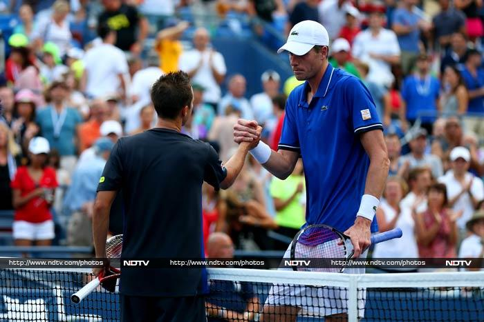 The losses by Isner and Sock meant wild card Tim Smyczek was the only American man left in the singles draw.