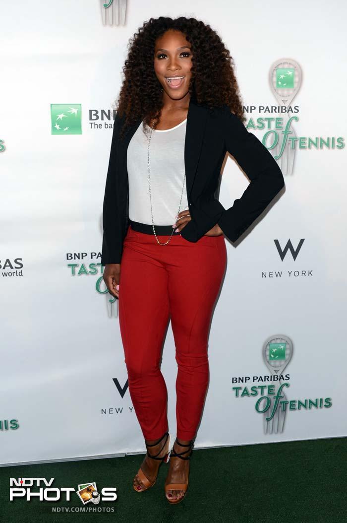 US Gold Medalist, tennis player Serena Williams attends the 13th Annual BNP Paribas Taste of Tennis.