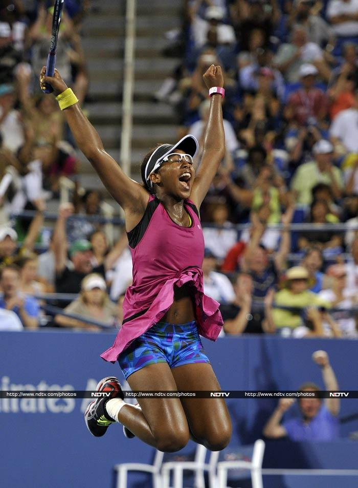 Victoria Duval cant hold back after defeating Samantha Stosur.