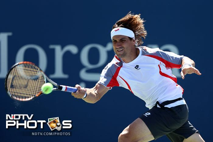 David Ferrer was in no mood to let up in his game as the Spaniard outplayed Kevin Anderson 6-4, 6-2, 7-6.