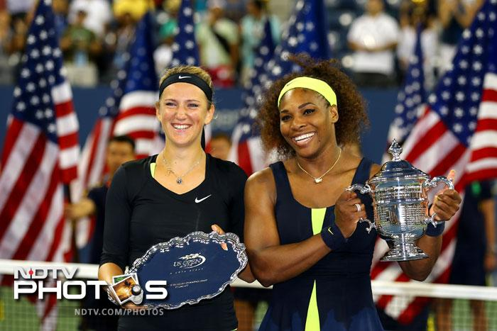 Serena Williams was pushed to the limit by Victoria Azarenka in the Women's Final of the US Open 2012 but she responded in her typical style and counter attacked to take the top honours in New York. (Photos AP & AFP)