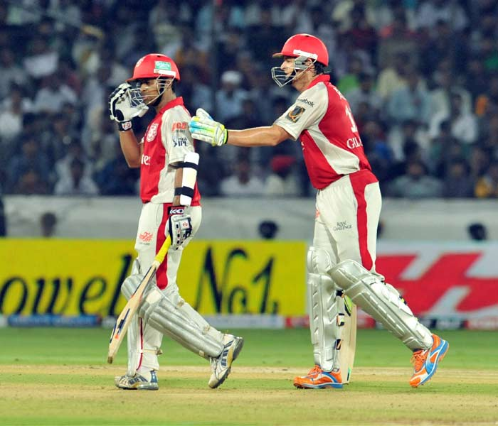 The buzz on the web is that even if the entire team does not play and sends in Valthaty alone for a match instead, the Kings XI will walk away with full points, irrespective of the opposition. Not too big an exaggeration considering his blessed form. (AFP PHOTO)