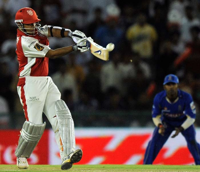 To call him a one-match-prodigy would have been correct until his second outing after his maiden IPL century. Valthaty came out all strokes blazing against the Deccan Chargers as well and consolidated the innings from the onset. (AFP PHOTO)