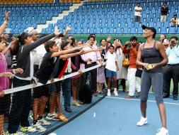 Venus Williams Has Fun Under Bangalore Sky
