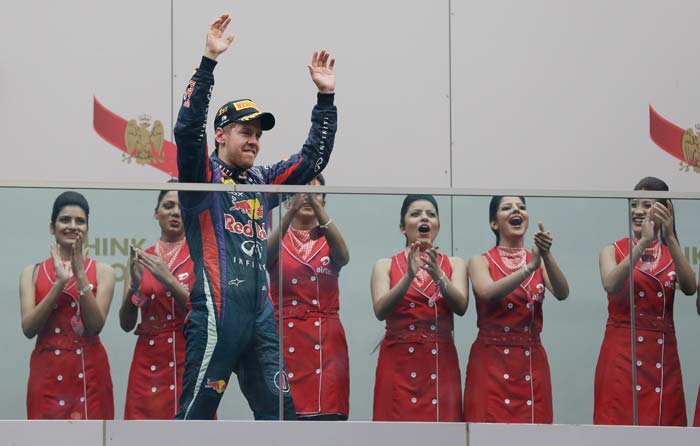 The 26-year-old German became the youngest man to win four straight titles, with Juan Manuel Fangio and Michael Schumacher the only other drivers to achieve the feat.