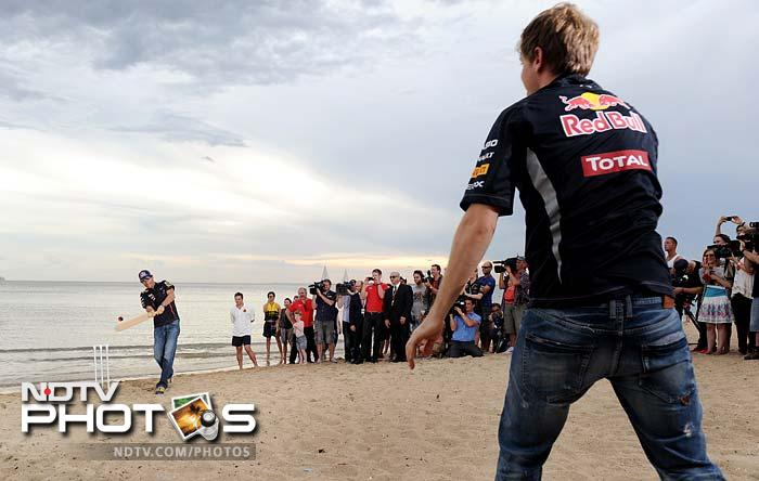 The picturesque location of St Kilda Beach in Melbourne provided the perfect setting for a fun-filled evening for the Red Bull drivers.